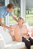 Male care assistant stock photos
