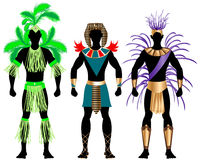 Male Carnival Costumes 2. Vector Illustration of three male Costumes for Festival, Mardi Gras, Carnival, Halloween or more