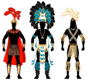 Male Carnival Costumes. Vector Illustration of three male Costumes for Festival, Mardi Gras, Carnival, Halloween or more
