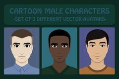 Male cartoon avatars Stock Photography