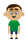 Male Cartoon Character happy child Stock Image