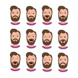 Male hipster cartoon character Royalty Free Stock Photo