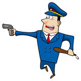 Male cartoon police officer Stock Photo