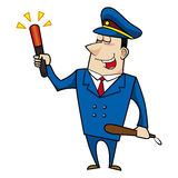 Male cartoon police officer Stock Images