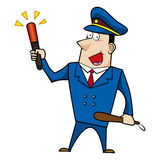 Male cartoon police officer Stock Image