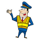 Male cartoon police officer Royalty Free Stock Image