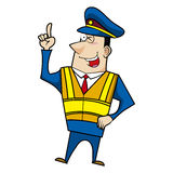 Male cartoon police officer Royalty Free Stock Images