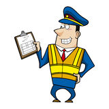 Male cartoon police officer Royalty Free Stock Photography