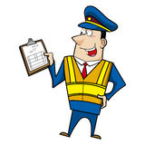 Male cartoon police officer Royalty Free Stock Photo