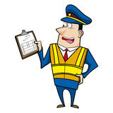 Male cartoon police officer Stock Photography