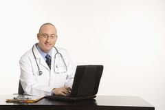 Male Caucasian doctor. Stock Photos