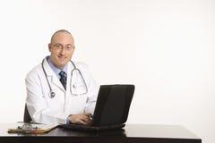 Male Caucasian doctor. Stock Photos