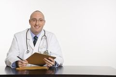 Male Caucasian doctor. Royalty Free Stock Photo