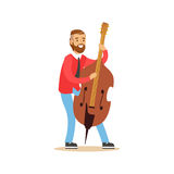 Male cellist playing cello vector Illustration. On a white background Stock Photography