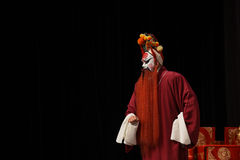 Male character in Chinese opera with a painted face Royalty Free Stock Photo
