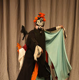 male character in Chinese opera with a painted face Royalty Free Stock Photography