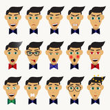 Male character with different emotions Royalty Free Stock Images