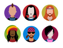 Male characters avatars Royalty Free Stock Image