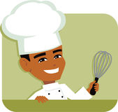 Male Chef Cartoon Icon Illustration holding a Kitchen Gadget Stock Images