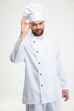 Male chef cook showing ok sign Stock Photos