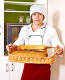 Male chef holding  food. Stock Photography