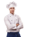 A male chef. Isolated over white background Royalty Free Stock Images