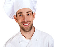 A male chef isolated over white background Royalty Free Stock Photography