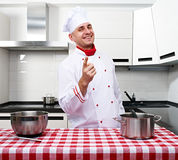 Male chef at kitchen Stock Image