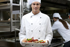 Male Chef in The Restaurant Stock Image