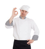 Male chef showing OK sign Royalty Free Stock Photo