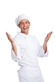 Male chef smiling and making hand  gesturing Stock Photos