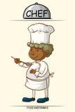 Male chef tasting food Stock Photo