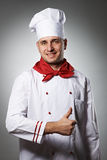 Male chef with thumb up portrait Royalty Free Stock Images