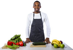 Male Chef on a White Background stock photo
