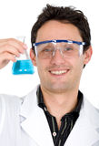 Male chemist smiling Royalty Free Stock Photo