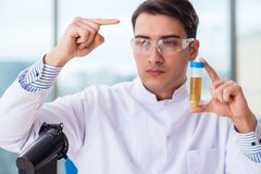 The male chemist working in lab. Male chemist working in lab Royalty Free Stock Images