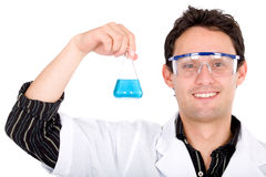 Male chemistry student Stock Photo