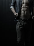 Male Chest And Mid-Section. Physique Stock Photos