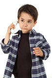 Male child controlling fever Royalty Free Stock Image