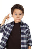 Male child controlling fever Royalty Free Stock Images