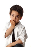 Male child with nice expression thinking Stock Images