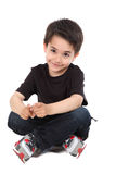 Male child in studio Stock Photo