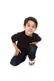 Male child in studio Royalty Free Stock Image