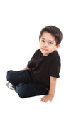 Male child in studio Royalty Free Stock Images