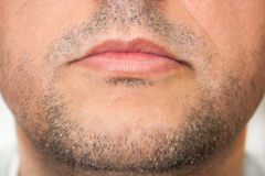 Male chin up close Stock Photo