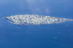 Male` City - Capital of Maldives stock image