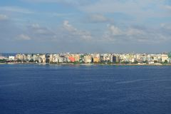 Male city skyline Royalty Free Stock Image