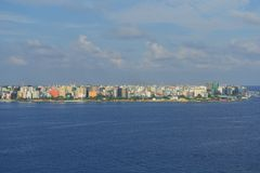 Male city skyline Stock Image