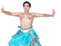 Male classical dancer from asia Royalty Free Stock Image