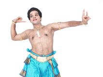 Male classical dancer from asia Royalty Free Stock Photography